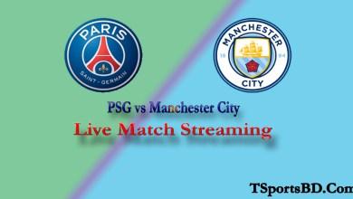 PSG vs Manchester City Match Live