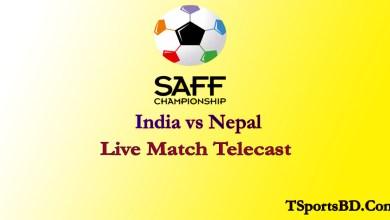 India vs Nepal SAFF Live