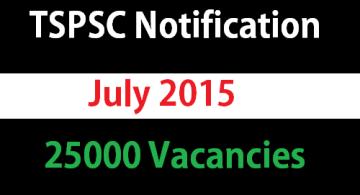 tspsc july 2015 notification - Updates
