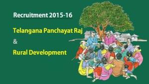 TS Panchayat Raj and Rural Development - Job Vacancies list