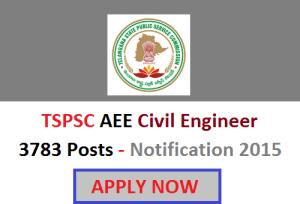Official TSPSC AEE Notification 2015 news updates