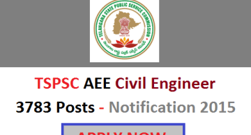 Official TSPSC AEE Notification 2015 news updates
