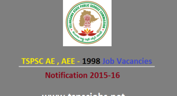 TSPSC AE AEE Notification 2015-16 Details