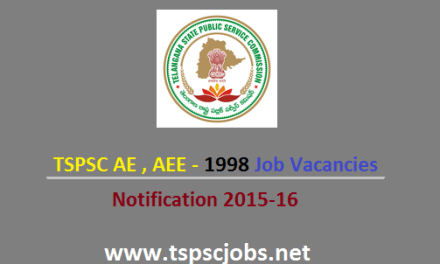 TSPSC AE AEE Engineer Posts Notification 1998 Jobs- Telangana PSC