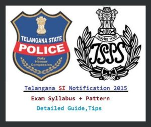 Telangana Police SI Notification 2015-16