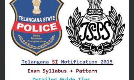 Telangana SI Syllabus Exam Pattern-TS Police Sub Inspector Notification 2016