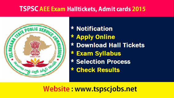 Download TSPSC AEE Hallticket Admit Card 2015 – tspsc.gov.in