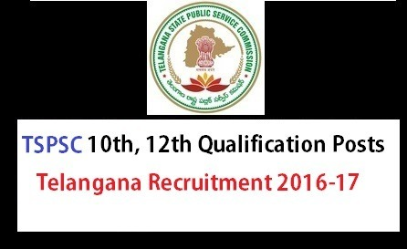 Telangana TSPSC 10th Intermediate Notification – TS Recruitment