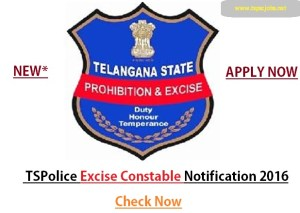 tspolice excise constable notification 2016