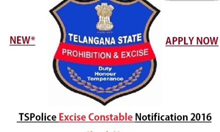 TSPSC Excise Constable Notification 2016- Exam Key Paper Announced
