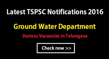 TSPSC Groundwater department notification 2016