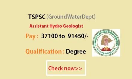 Assistant HydroGeologist Notification 2016 – Exam Syllabus