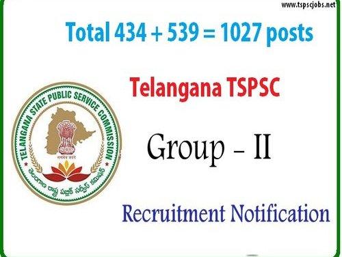 New Telangana TSPSC Group2 Notification 2017 – 1032 posts list
