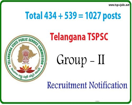 New Telangana TSPSC Group2 Notification 2017 – 1032 posts list