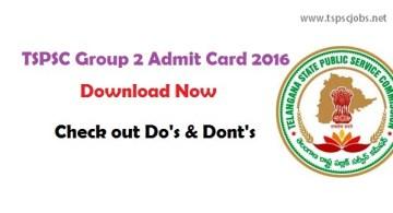 tspscgroup2admitcard details