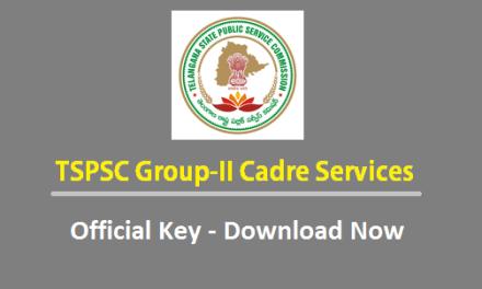 Download Telangana TSPSC Group2 final Key 2016 – Available PDF –