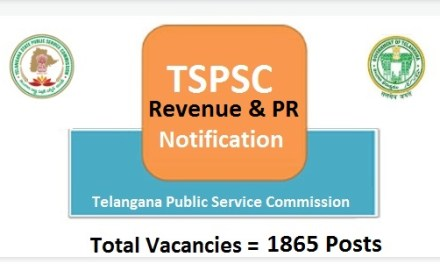 TSPSC Revenue Department Notification 2017 | Panchayat Raj Dept  – 1865 Vacancies