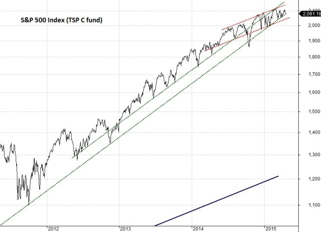 Long view of S&P 500 (C fund)