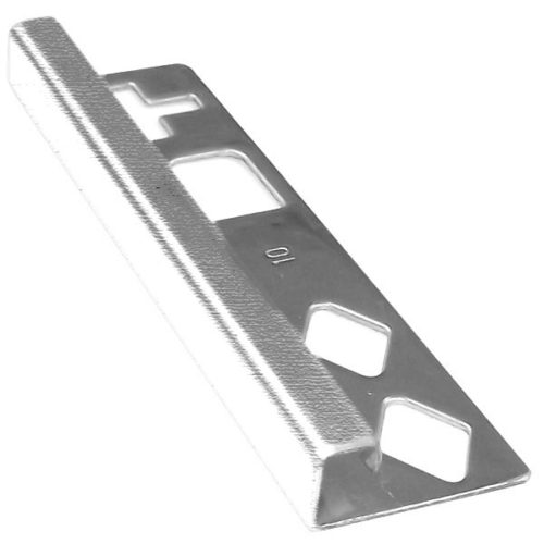 dta square stainless steel g316 tile trim 10mm x 3m brushed finish
