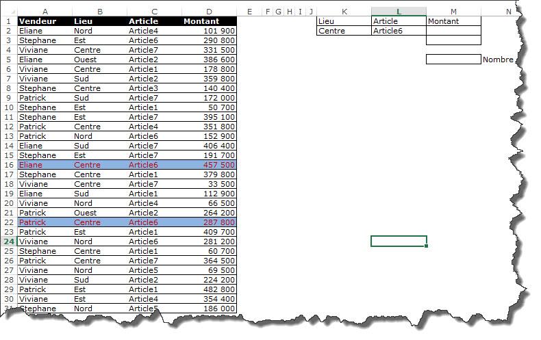 Comment utiliser la fonction SOMME sous forme matricielle (video1)