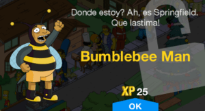 bumblebee man character unlock message