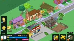 Tapped Out collecting money and xp