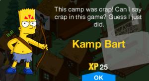 TSTO New Character unlock level 32 Kamp Bart Premium