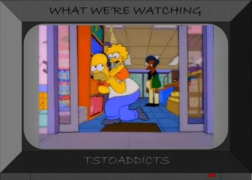 Homer and Lisa Horseyback