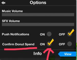 Confirm Donut Spend