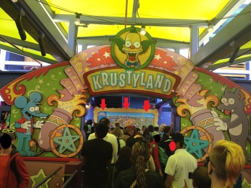 Simpsons Ride Entrance Krustyland Map