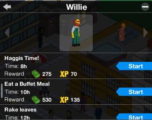 willie tasks