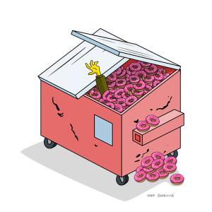 donut dumpster