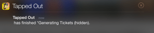 Glitch notification Ticket Error