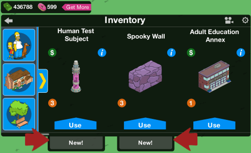 Inventory Main Screen Info