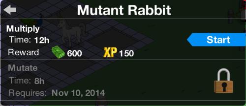 Mutant Rabbit Mutate Task Locked