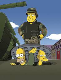 Simpsons Military