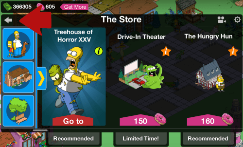The Store Back Button