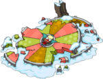 Destroyed Holiday Wheel