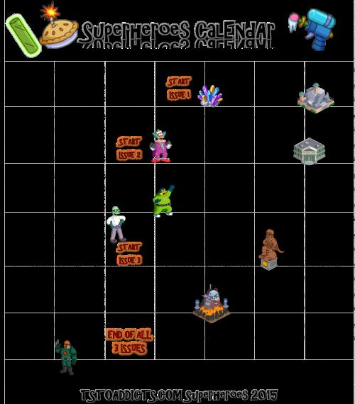 Superheroes Calendar