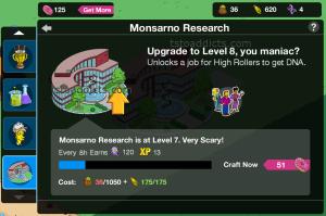 Monsarno Level 8 Upgrade