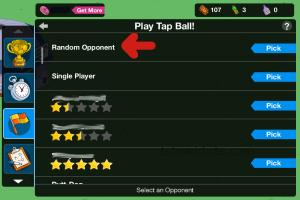 Play Tap Ball Random Opponent