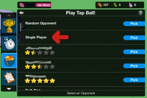 Play Tap Ball Single Player