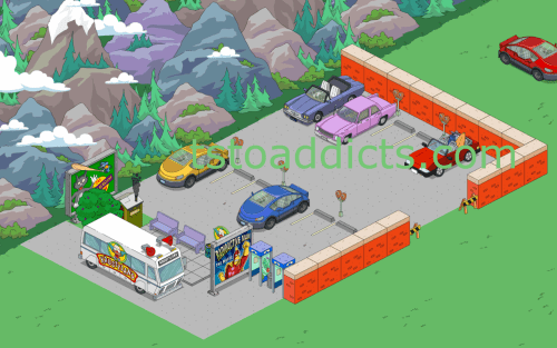 Cars on Road Parking Lot Final