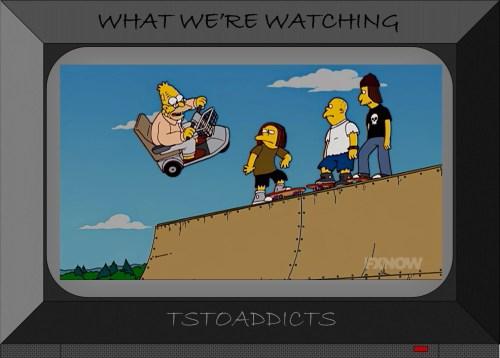 Grampa Simpsons skateboard ramp ECV