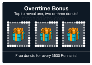 Overtime Pennant Bonus 3 Donut Boxes