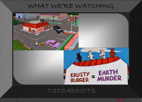 Krusty Burger Earth Murder Simpsons