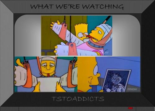 Lance Murdock full body cast Simpsons