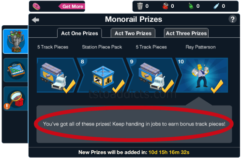 Monorail Prizes Complete