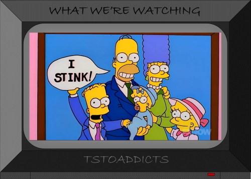 Simpsons family portrait Homer I stink