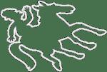 Jockey Chalk Outline